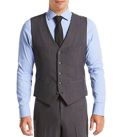 Perry Ellis Slim-Fit Bi-Stretch Suit Separates Vest