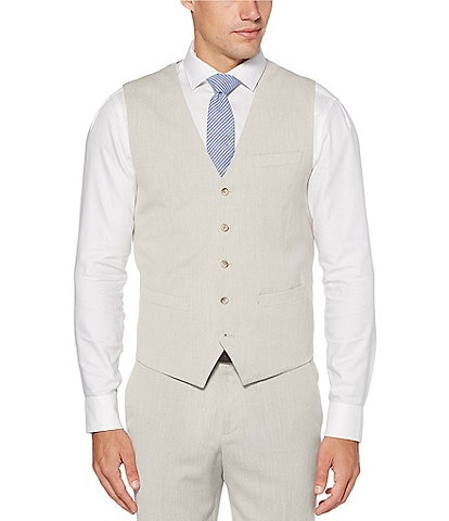 Perry Ellis Slim-Fit End-On-End Stretch Suit Separates Vest
