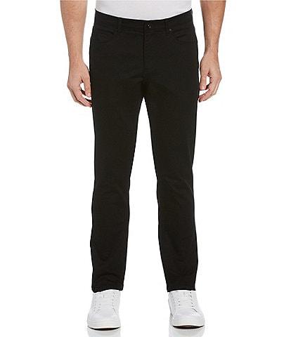 Perry Ellis Slim-Fit Flat Front 5-Pocket Stretch Pants