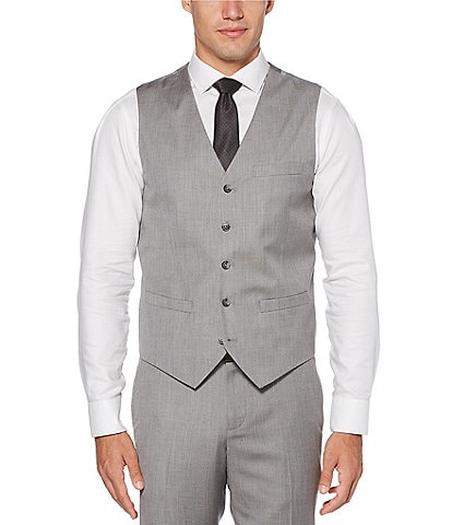 Perry Ellis Slim-Fit Herringbone Stretch Suit Separates Vest