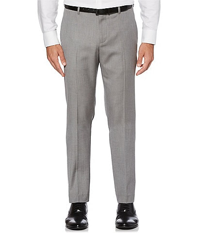Perry Ellis Slim-Fit Herringbone Flat Front Suit Separates Pants