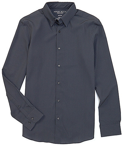 Perry Ellis Motion Slim-Fit Performance Stretch Long-Sleeve Woven Shirt