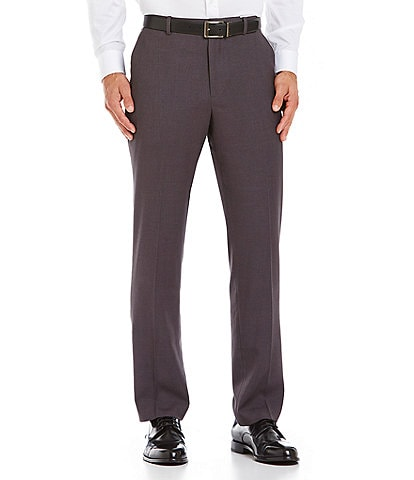Perry Ellis Slim-Fit Stretch Solid Flat-Front Suit Separate Pants