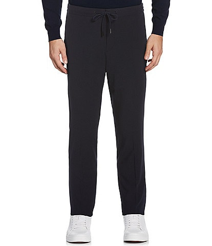 Perry Ellis Slim-Fit Solid Stretch Drawcord Pants