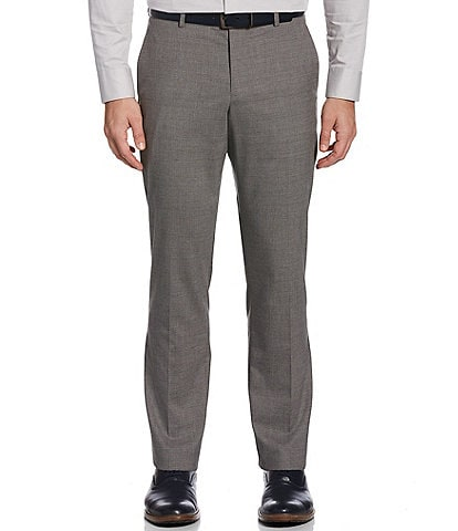 Perry Ellis Slim-Fit Tonal Check Performance Stretch Dress Pants
