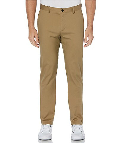 Perry Ellis Slim-Fit Wrinkle-Resistant Water-Repellent Solid Stretch Chino Pants