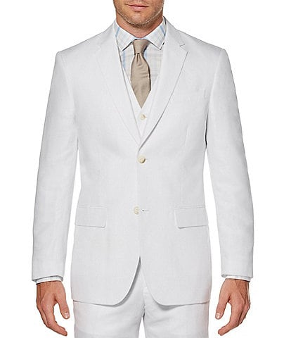 Perry Ellis Solid Linen Blend Jacket