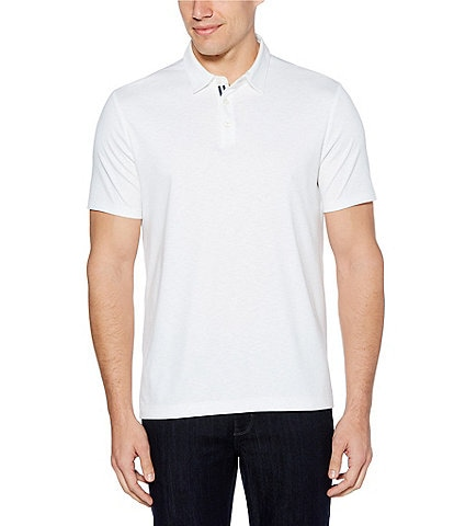 Perry Ellis Solid Soft-Touch Short-Sleeve Polo Shirt