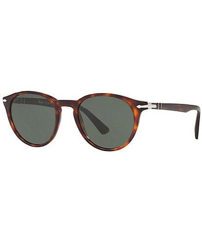 Persol Men's PO3152S Round 52mm Sunglasses