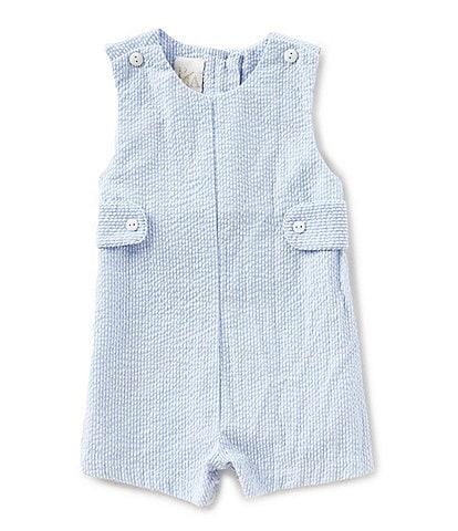 Petit Ami Baby Boys 3-24 Months Seersucker Shortall