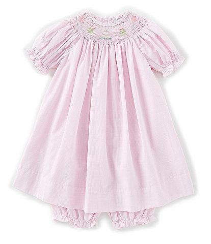 Petit Ami Baby Girls 12-24 Months Birthday Smocked Short Sleeve Dress