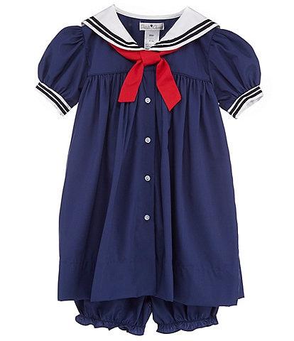 Petit Ami Baby Girls 3-24 Months Nautical Sailor Dress