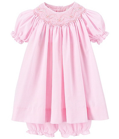 Petit Ami Baby Girls 3-9 Months Smocked Gingham Dress