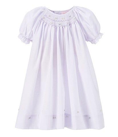 Petit Ami Baby Girls Preemie-Newborn Smocked Dress