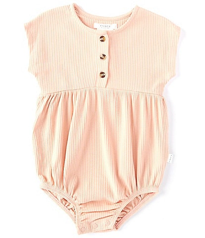 Petit Lem Baby Girls 12-24 Months Ribbed Bubble Shortall