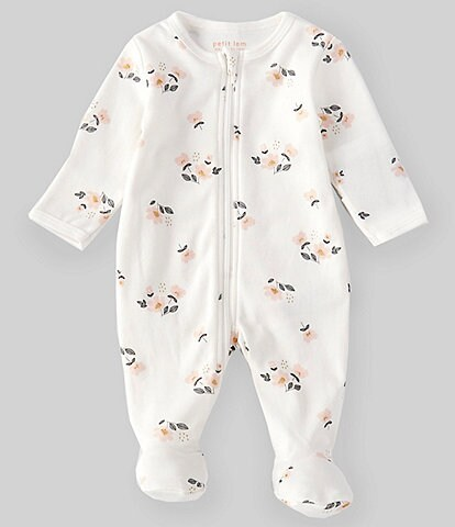 Petit Lem Baby Girls Newborn-9 Months Floral Print Footed Coverall