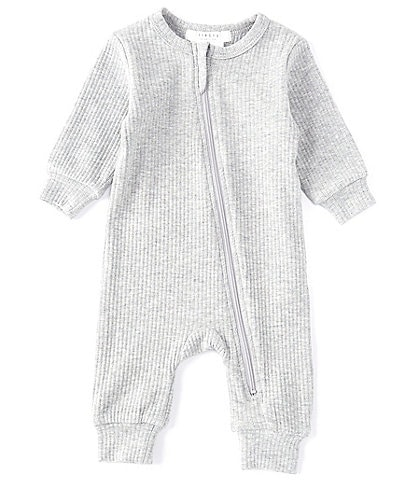 Petit Lem Baby Newborn-6 Months Ribbed Knit Long Sleeve Coverall