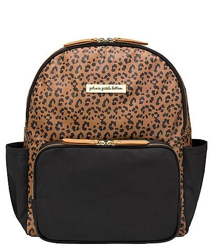 Petunia Pickle Bottom Zipper Front District Backpack Diaper Bag - Leopard