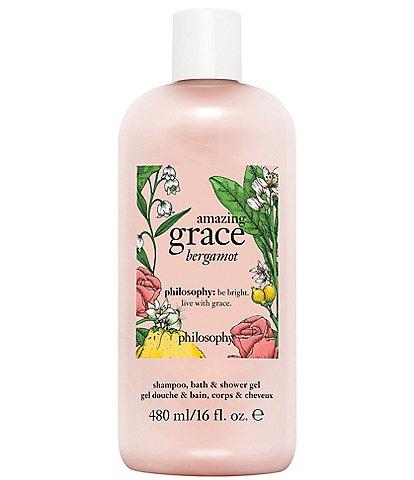 philosophy amazing grace bergamot shampoo, bath and shower gel
