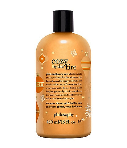 philosophy Cozy by the Fire shampoo, shower gel & bubble bath Limited Edition