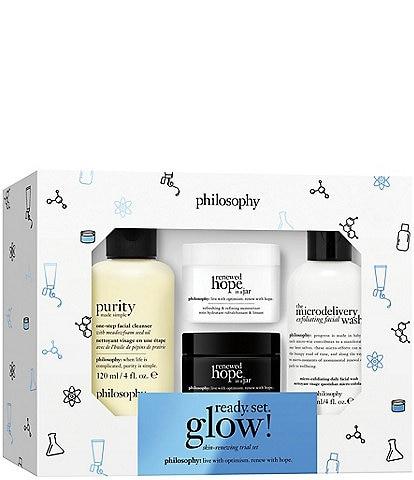 philosophy Ready. Set. Glow! Skin Renewing 4-Piece Trial Set