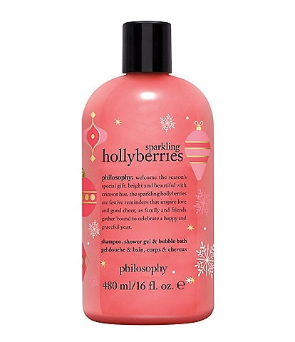 philosophy Sparkling Hollyberries Shampoo, Shower Gel & Bubble Bath Limited Edition