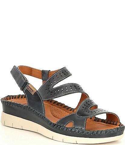 Pikolinos Altea Lazer Cut Banded Wedge Sandals