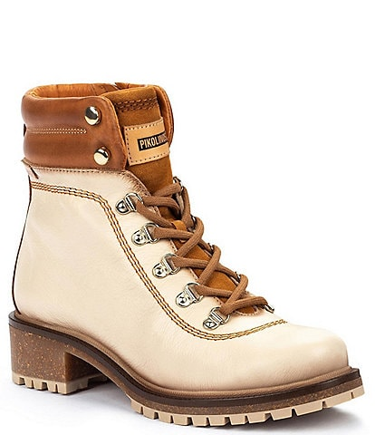 Pikolinos Aspe W9Z Leather Lace-Up Hiker Booties