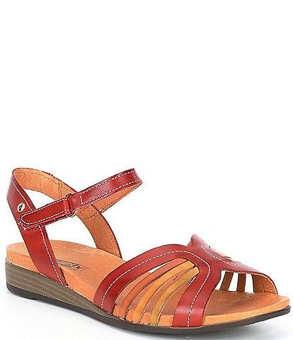 Pikolinos Ibiza Leather Whipstitch Detail Sandals