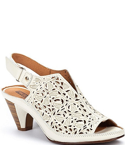 Pikolinos Java W5A Punched Leather Peep Toe Slings