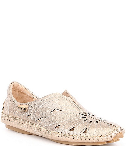 Pikolinos Jerez Floral Cut Out Slip Ons