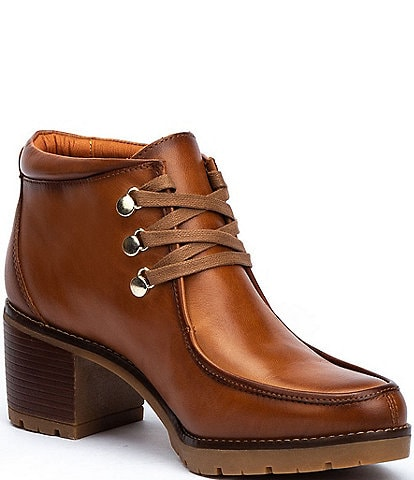 Pikolinos Llanes W7H Leather Lace-Up Booties