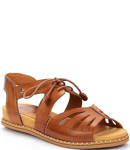 Pikolinos Marazul W3F Leather Wedge Sandals