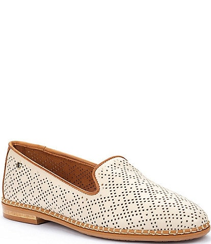 Pikolinos Merida W4F Punched Leather Slip-On Loafers