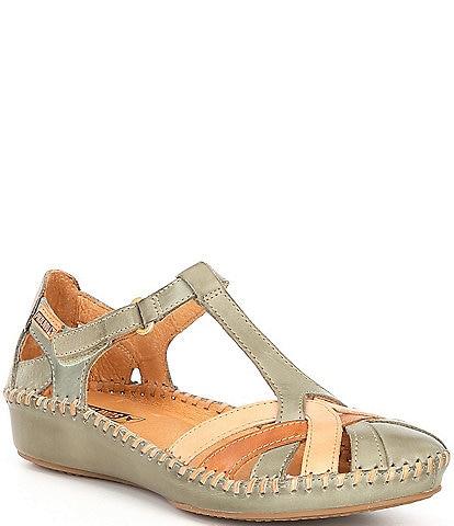 Pikolinos P Vallarta Leather T-Strap Sandals