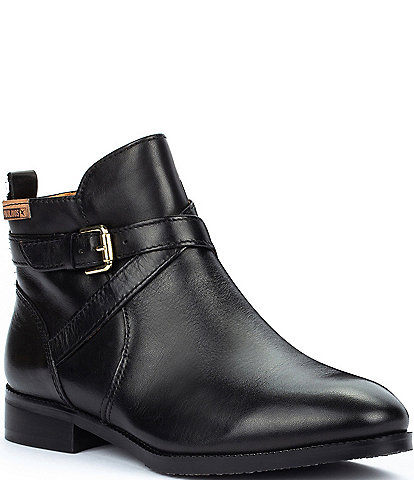 Pikolinos Royal W4D Leather Side Zip Booties