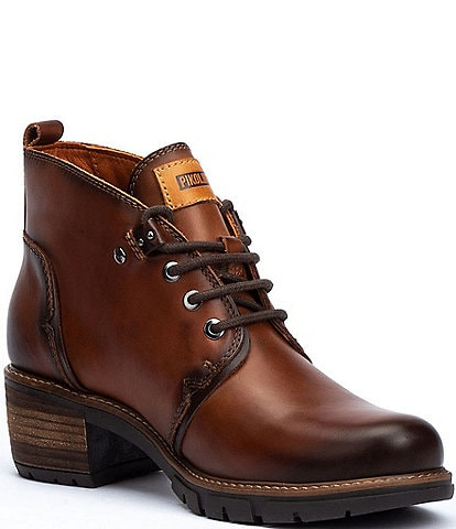 Pikolinos San Sebastian W1T Leather Lace-Up Booties