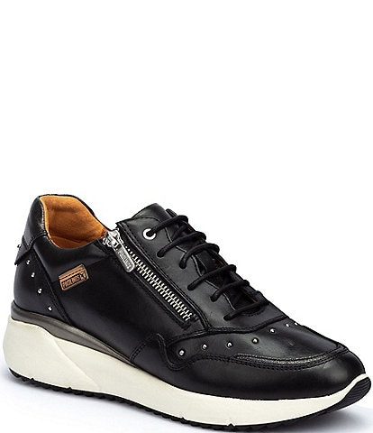 Pikolinos Sella W6Z Studded Leather Zip Sneakers