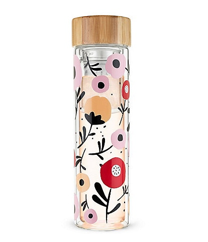 Pinky Up Blair Glass Floral Infuser Travel Mug