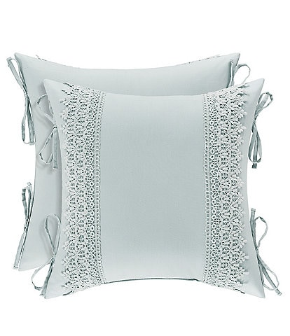 Piper & Wright Eva Crochet Trimmed Square Pillow