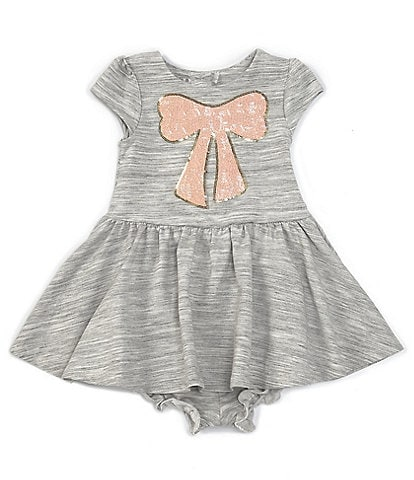 Pippa & Julie Baby Girls 12-24 Months Sequin Embellished-Bow Fit-And-Flare Dress