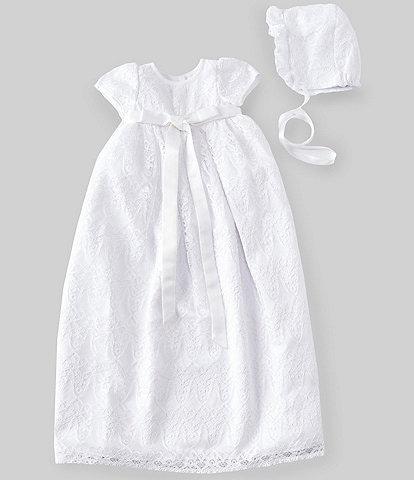 ae21d7d2110d7 Pippa & Julie Baby Girls Newborn-24 Months Lace Christening Gown