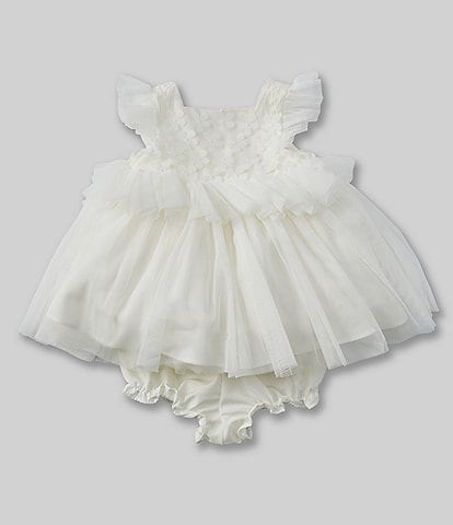 f8f0bd462171 Pippa & Julie Baby Girls Newborn-24 Months Peplum Fit-And-Flare Dress