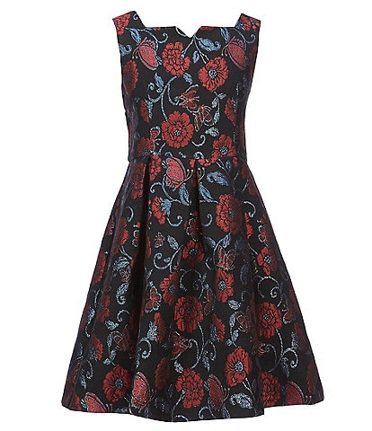 Pippa & Julie Big Girls 7-14 Floral-Embroidered Fit-And-Flare Dress