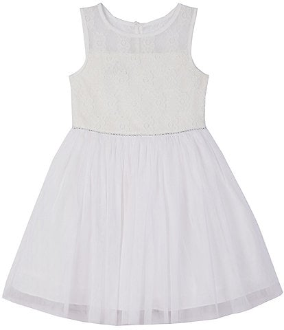 Pippa & Julie Big Girls 7-16 Illusion Patterned/Mesh Tutu Dress
