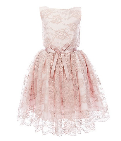 Pippa & Julie Little Girls 2T-6X Chantilly Lace Fit-And-Flare Dress