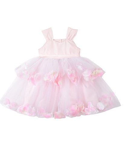 Pippa & Julie Little Girls 2T-6X Flower Petal Tiered Fit-And-Flare Dress