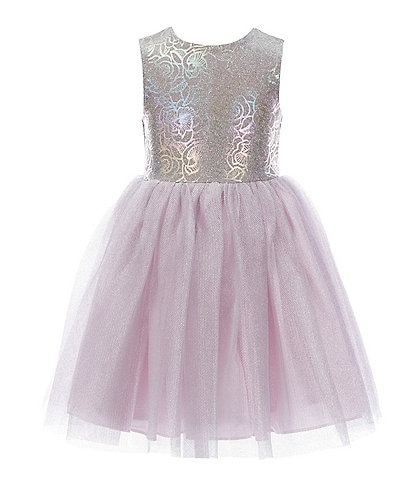 Pippa & Julie Little Girls 2T-6X Holographic Rainbow Tutu Fit-And-Flare Dress