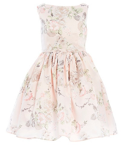 Pippa & Julie Little Girls 2T-6X Sleeveless Floral-Printed Fit-And-Flare Dress