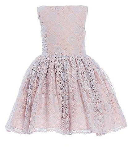 Pippa & Julie Little Girls 2T-6X Sleeveless Lace Fit-And-Flare Dress